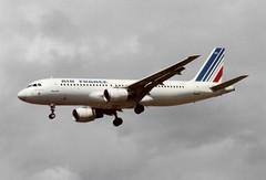 F-GFKO Airbus A320-211 cn 129 Air France Heathrow 13Jun91 (kerrydavidtaylor) Tags: lhr egll londonheathrowairport a320 a320200