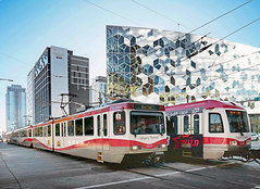 C Train Calgary. (Bernard Spragg) Tags: ctraincalgary urbanrail trains transport rides city lumix calgary