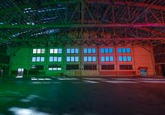 Liberated Shadows (Nocturnal Kansas) Tags: night nocturnal moon full led1 protomachines nikon d800 lightpainting longexposure nightphotography hanger airplane ww2 nevada