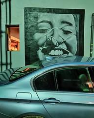 Tied to a Feeling (subterraneancarsickblues) Tags: carlisle cumbria dark afterdark night nocturnal urban street smartphone oneplus oneplus7tpro nightmode phone car streetart snapseed