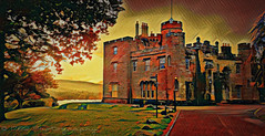 Balloch Castle (Rollingstone1) Tags: ballochcastle balloch scotland westdunbartonshire lochlomond castle outdoor building history historical estate listedbuilding tudorgothic landscape colour vivid trees hills loch art artwork
