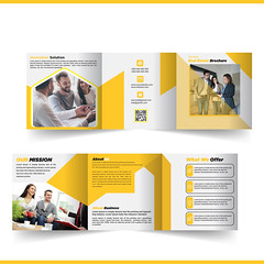 Square Tri-fold Brochure (sazzad590) Tags: square trifold brochure flyer business card creative corporate design print branding ui ux uiux