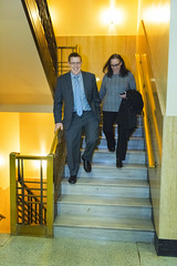 Leaving the hearing (OregonDOT) Tags: krisstrickler director oregondot oregon people hearing
