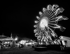 Black & White on the Midway (TnOlyShooter) Tags: ferriswheel countyfair midway night carnival blackandwhite columbia tennessee maury olympus em1markii 918mmf456 mirrorless