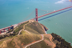 Because the Tide is High (Thomas Hawk) Tags: america bayarea california goldengatebridge northerncalifornia sf sfbayarea sanfrancisco usa unitedstates unitedstatesofamerica westcoast aerial bridge norcal fav10 fav25 fav50 fav100