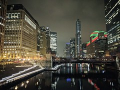 Lights (ancientlives) Tags: chicago chicagoriver chicagoparks merchandisemart christmas christmasdecorations christmaslights lights evening downtown loop buildings architecture towers city cityscape skyline skyscrapers walking river night wednesday november 2019 autumn