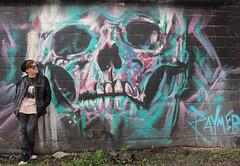 Colorful skull (Lisa Meadville) Tags: classof2020 lawrenceville pittsburgh jeremyraymer graffiti streetart colorful seniorshoot