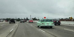 Chevrolet 2-Door Wagons on the San Diego Freeway (49er Badger) Tags: chevrolet wagon 405