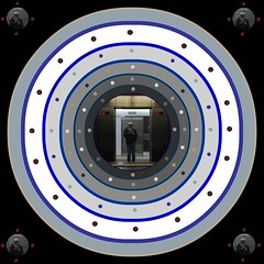 Choosing an Interdimensional Level to Enter for Karmic Redemption (buddhadog) Tags: circles selfie 500x500 iphone6 square doorway interdimensions postprocessed pp multilevelsofdimensions karmicchoices reincarnations cyclesoflifechoices