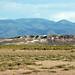 Eolian gypsum sand (Holocene) partially covering White Mountain Rhyolite (Pleistocene, 400 ka) (White Mountain, Black Rock Desert, Utah, USA) 1
