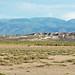 Eolian gypsum sand (Holocene) partially covering White Mountain Rhyolite (Pleistocene, 400 ka) (White Mountain, Black Rock Desert, Utah, USA) 2