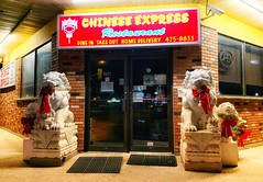 Chinese Express Restaurant (Cindy's Here) Tags: chineseexpressrestaurant lions christmas decorations restaurant thunderbay ontario canada iphone