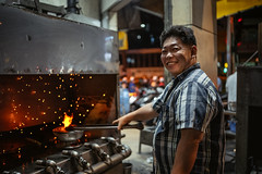 Hotpot Furnace (Cadicxv8) Tags: food fire cook chef coal hotpot street red streetphotography