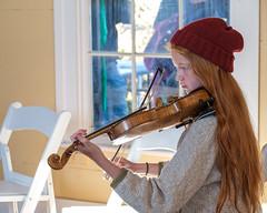 Fiddle Practice (-Dons) Tags: austin austincelticfestival2019 pioneerfarms texas unitedstates fiddle hat cap hair tx usa violin window bow face austincelticfestival