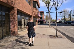 Walking Downtown (Vegan Butterfly) Tags: edmonton city urban downtown street people person walk walking
