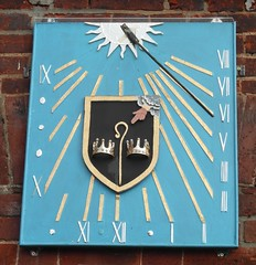 Sundial (Happy Snapper 61) Tags: sundial timepiece coatofarms stbenetsabbey horning norfolkbroads norfolk
