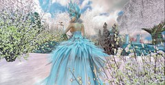 FROZEN ELF for gacha garden event⛄ (Lichy L0ve) Tags: winter irrisistible shop gacha garden event hairs jewerly eyes clothes costume ice snow fairy christmas dress mesh magical wonderland elf elfe creation design sl secondlife second life maitreya omega catwa rp roleplay flowers ears hud bodysuit body sparkle stars aura shoes heels women girl outfit machine