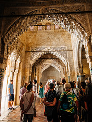 Guide Explaining (Poul-Werner) Tags: alhambra andalusia andalusien gislevrejser granada spain architecture geometry pattern travel travelbycoachorbus granadaprovince