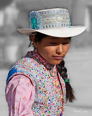 Wititi dance (marko.erman) Tags: colca valley river yanque village wititidance folk traditional tradition dressing dance girl bridalparades portrait colorfull sony outside sunny southamerica latinamerica peru