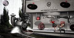 End of the Line (Patrick of Ireland) Tags: sl art digitalart muse coffee train illusion delusion itakos surreal surrealist surrealistic secondlife photo photography reality