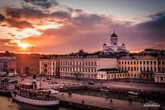 Helsinki sunset (Joni Salama) Tags: kirkko tuomiokirkko valo auringonlasku arkkitehtuuri sunset church architecture helsinki suomi finland cityscape