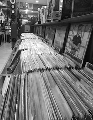 (Anna Iwinska) Tags: music records record store indie metal punk rap rb bw vinyl collector