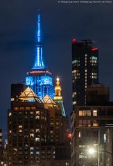Baby Blue ESB (20191120-DSC09815) (Michael.Lee.Pics.NYC) Tags: newyork esb empirestatebuilding night longexposure coopersquare architecture cityscape skyline skyscraper sony a7rm4 fe70300mmg