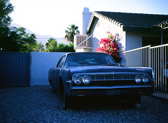 Palm Springs, California (bior) Tags: palmsprings pentax645nii velvia mediumformat 120 yard car gravel
