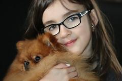Jade and Zino (roland_tempels) Tags: portrait child dog pomeriaan studio supershot pets love