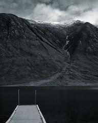 Glen Etive, Scotland (S.R.Murphy) Tags: glenetive highlands landscape lochetive oct2019 scotland bw bnw blackandwhite whiteandblack monochrome mountain lake snow water fujifilmxt2 fujifilm fujifilmxf1680mm