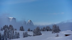 IMGP4017 Sciliar over the clouds (Claudio e Lucia Images around the world) Tags: alpedisiusi valgardena dolomiti alpe di siusi val gardena snow winter mountains adler lodge ortisei sassolungo sassopiatto sky christ cross pentax pentaxk3ii pentaxcamera pentaxlens pentaxart cold unesco pentax18135 gröden sciliar clouds tree sella sellagroup snowstorm sunrise