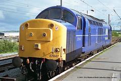 15/07/1997 - Warrington (Bank Quay), Cheshire. (53A Models) Tags: ews mainline englishelectric type3 class37 37047 diesel warrington bankquay cheshire train railway locomotive railroad
