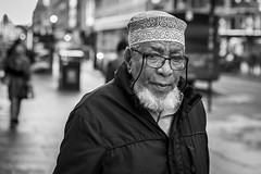 Argyle Street (Leanne Boulton) Tags: urban street candid portrait portraiture streetphotography candidstreetphotography candidportrait streetportrait eyecontact candideyecontact streetlife old man male face eyes expression emotion mood feeling beard hat glasses tone texture detail depthoffield bokeh naturallight outdoor light shade character city scene human life living humanity society culture lifestyle people canon canon5dmkiii 70mm ef2470mmf28liiusm black white blackwhite bw mono blackandwhite monochrome glasgow scotland uk