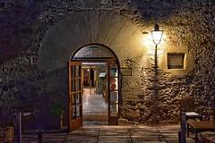 Es Portal (Mr_Pudd) Tags: catalunya archway arch stonearch stone incandescentlighting lamp empordà catalonia esportalgastronomichotel nightphotography window door girona pals esportal nikond750 nikon spain españa 17 michelin2018 michelin2019 tripadvisor
