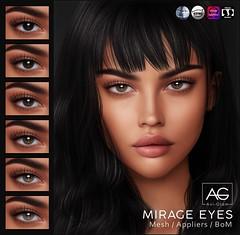 AG. Mirage Eyes (Avi-Glam) Tags: aviglam ag sl second life mesh system bom eyes appliers