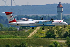 OE-LGH  DHC-8-402Q Dash 8 Austrian  Viena 04-09-16 (Antonio Doblado) Tags: oelgh dhc8 bombardier dehavilland dash8 austrian viena aviacion aviation aircraft airplane airliner