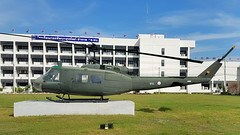 """Bell UH-1H Iroquois c/n 10089 Thailand Army serial 9483 preserved at the """"Army Transportation Engineering School"""", Bangkok, Thailand (Erwin's photo's) Tags: thailand preserved stored aircraft helicopter aviation wr wrecks relics bell uh1h iroquois cn 10089 army serial 9483 transportation engineering school bangkok"""