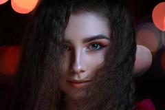 Daria (tromanph) Tags: portrait headshot beautifulgirl beautiful beauty bokeh night