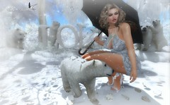 LOVE THE BEARS (Rachel Swallows Inworld Elenamicheals Core) Tags: accessories bishesinc christmas fashion garden hec ice landscape polarbear secondlife snow tmcreation treschic winter