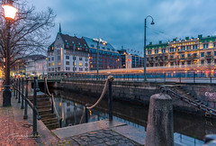 Gothenburg Morning (Fredrik Lindedal) Tags: city cityscape clouds cityview lamp hotels water reflection reflections stairs streetview street streetvision streetlight lindedal