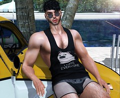 I Hate Everyone (Bryan Trend) Tags: head lelutka guy body belleza jake hair modulus noche tank tanktop signature gianni tmp legacy sparrow underwear the men jail event male new blog blogger model sl secondlife second life