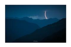 Power (MagiCshoot) Tags: night nuit eclair foudre montagne mountain landscape fuji blue bleu