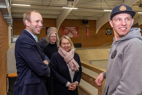 Besuch der BMX- und Skatehalle von Backyard e.V. im Oldenburger Norden.