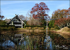 Artist's House... (angelakanner) Tags: canon70d tamron18400 longhousereserve longisland water reflection house