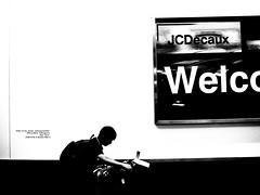 A boy and two suitcases. (My son, Yui.) (mitsushiro-nakagawa) Tags: nakagawa artist ny interview photograph picture how take write novel display art future designfesta kawamura memorial dic museum fineart 新宿 manhattan usa london uk paris アンチノック milan italy lumix g3 fujifilm mothinlilac mil gfx50r bw mono chiba japan exhibition flickr youpic gallery camera collage subway street publishing mitsushiro