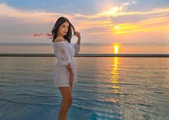Sunset at the Beach (Paul Saad) Tags: woman pretty beautiful nikon d850 lebanon portrait girl people brunette model women models beach sunset dusk dawn surise sea sun clouds
