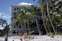 Moana Surfrider Beachfront 1952 (Kamaaina56) Tags: 1950s waikiki hawaii moana surfrider beach slide