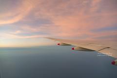 Fly to Okinawa (Jennifer 真泥佛 * Taiwan) Tags: 華航 中華航空 夕陽 機翼 夕焼け taiwan okinawa naha 桃園機場 那霸機場 chinaairline 沖繩 japan 日本