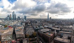 PANORAMA VIEW FROM ST PAULS (EXPLORED No. 8) (mark_rutley) Tags: stpauls cathedral london westminster england panorama thecity buildings urbanlandscape urban landscape theshard