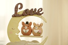Handmade Pembroke Welsh Corgis bride and groom MochiEgg with wooden moon and swing wedding cake topper, custom pets, dog wedding cake decoration ideas (charles fukuyama) Tags: animalscaketopper puppy dogcaketopper inspiration weddingcakedisplay weddingcakedesign weddingplanning handmadecaketopper initials weddingideas weddingdetails weddingdecor ceremony claydoll sculpted couplecaketopper egg marriage justmarried bigday weddingthings mariage boda hochzeit 結婚式 nozze cakedecor occasion